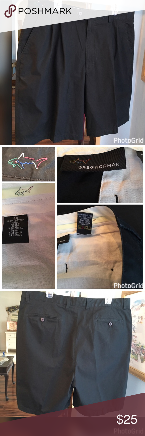 Greg Norman Black Shorts Greg Norman black shorts. Excellent condition. Greg Norman Shorts