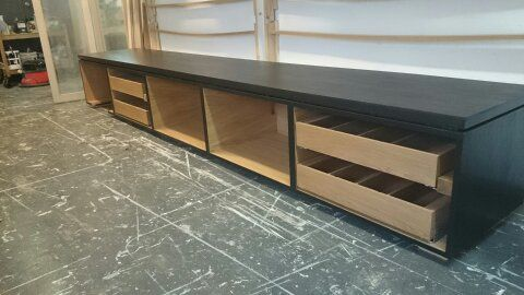 Under Projector Screen Storage Furniture Making Storage Home Decor