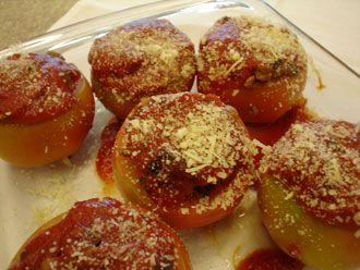 Tomates Recheados e Assados