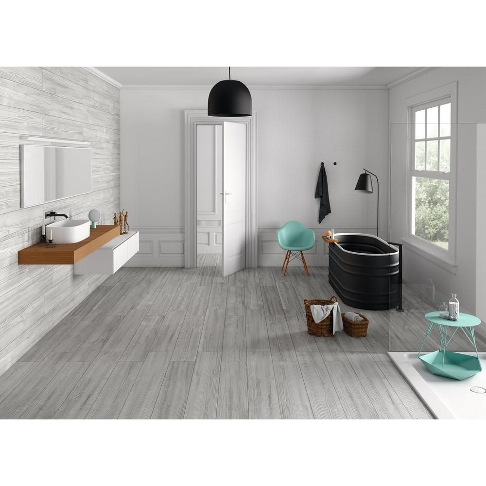 helsinki gray wood plank porcelain tile 8in x 48in 100198639 find this pin and more on new home by granj560