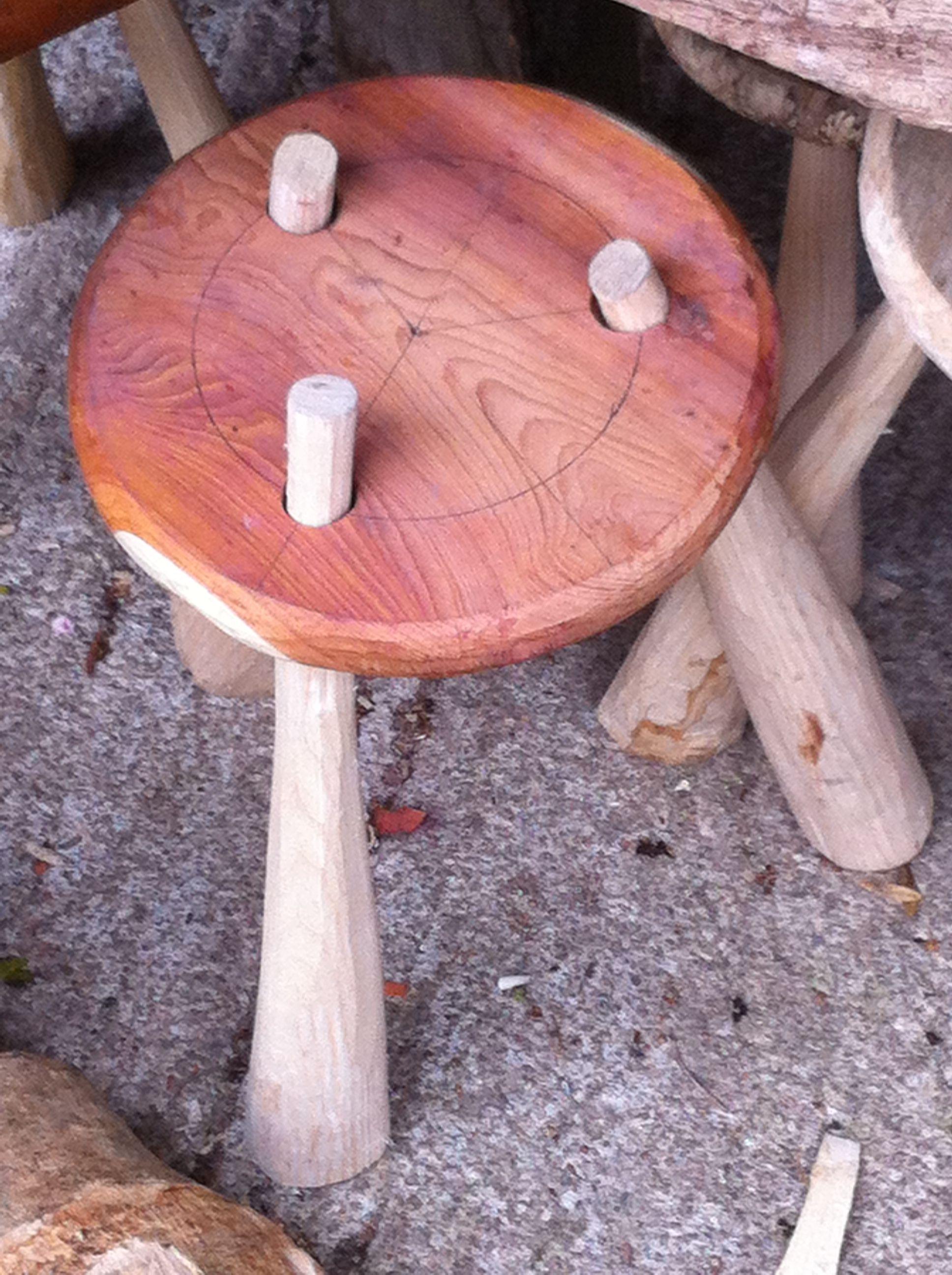 Green oak stool | Home | Pinterest | Stools, Woods and Wood stone