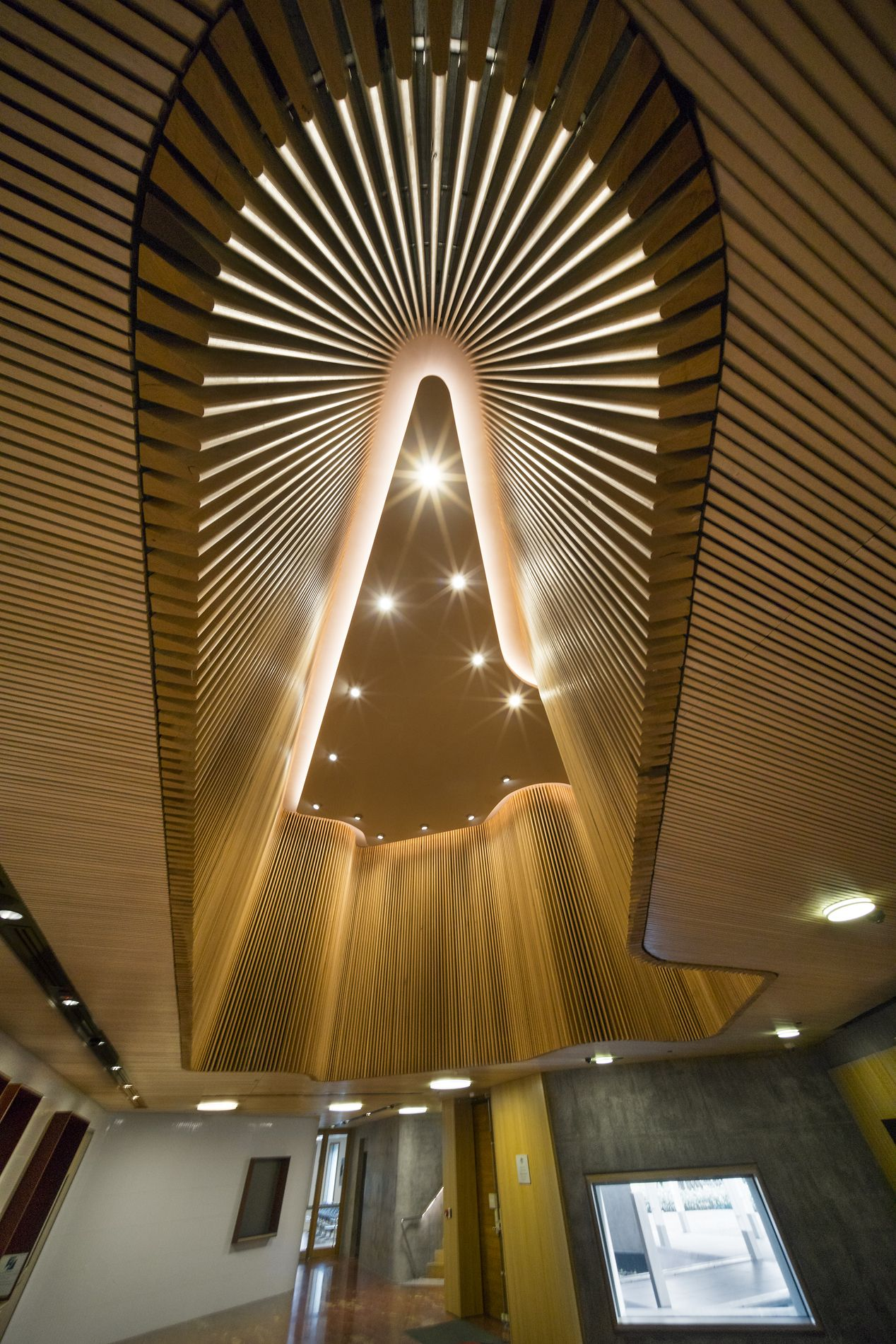 Australian Embassy The Australian Embassy Bangkok Uses Sculptform S Click On Battens