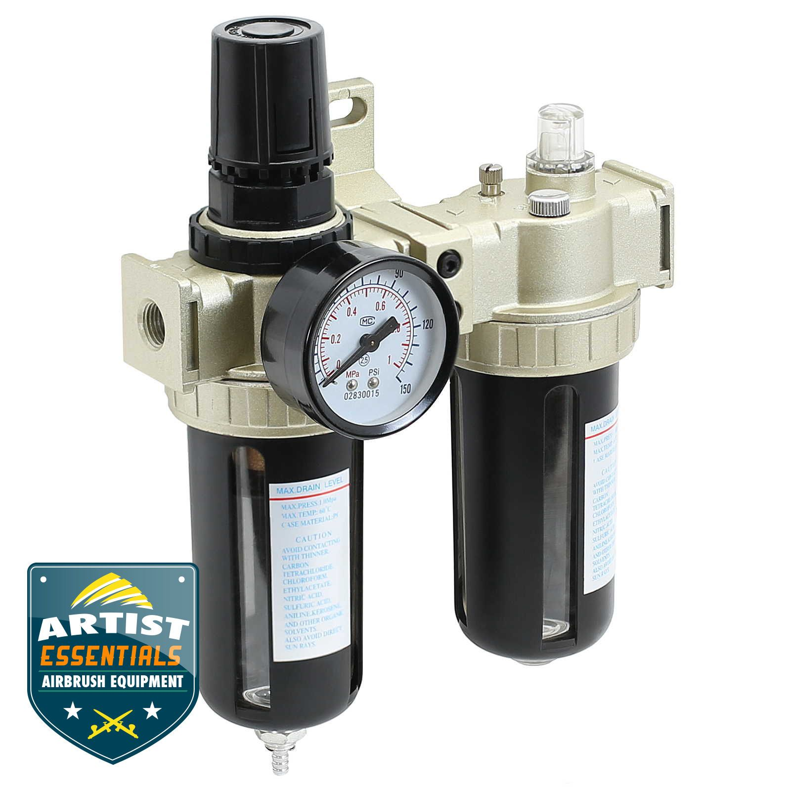 Details about Air Compressor Filter Lubricator Inline