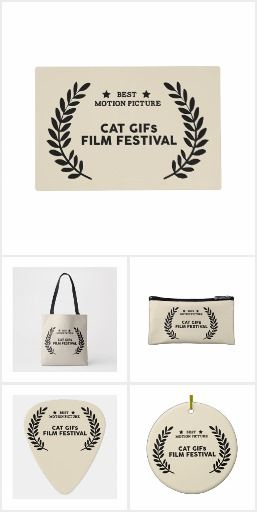 Cat Gifs Film Festival Winner Best Motion Picture Collection - This award goes to the one who addicts cats and gifs! #zazzle #filmmaking #filmmaker #cat #gif #gifs #humor #funny #award #artprint #gift #giftideas #design #wedding #unique #fashion #style #homedecor #accessories #bags #clothing #stickers