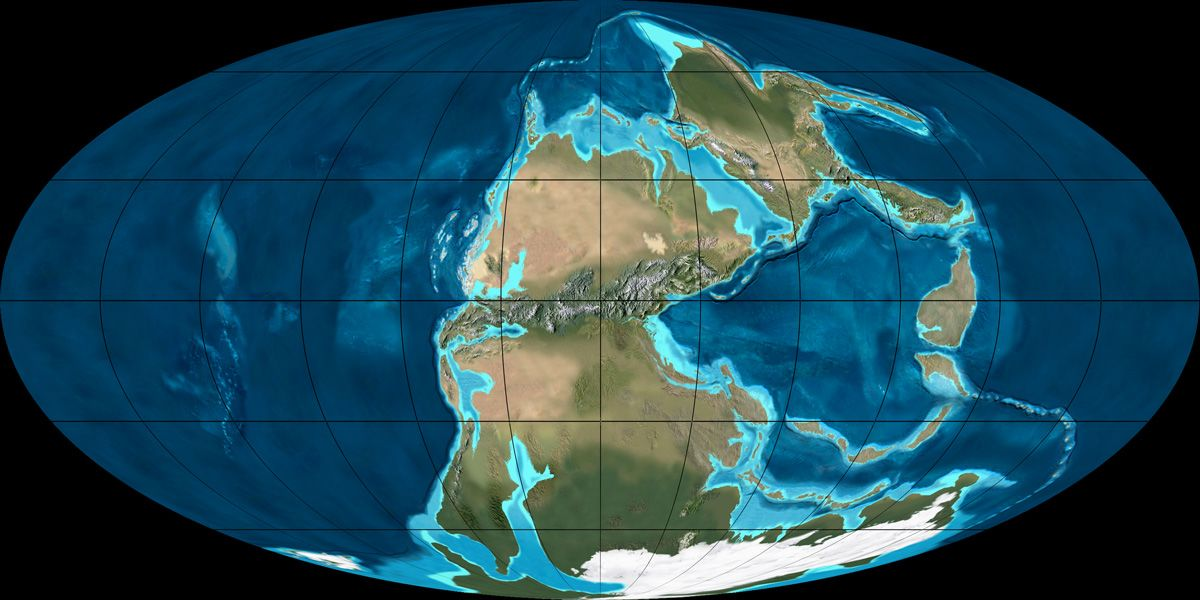 Mollewide [Oval Globe] Plate Tectonic Map of the Earth from the
