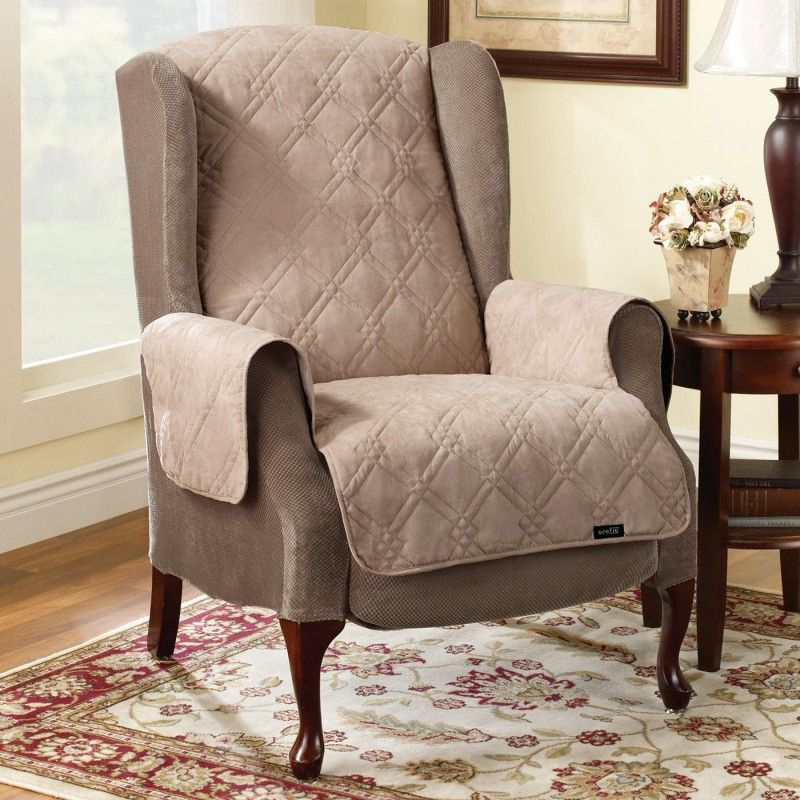 Drawing of wingback chair slipcover for comfortable