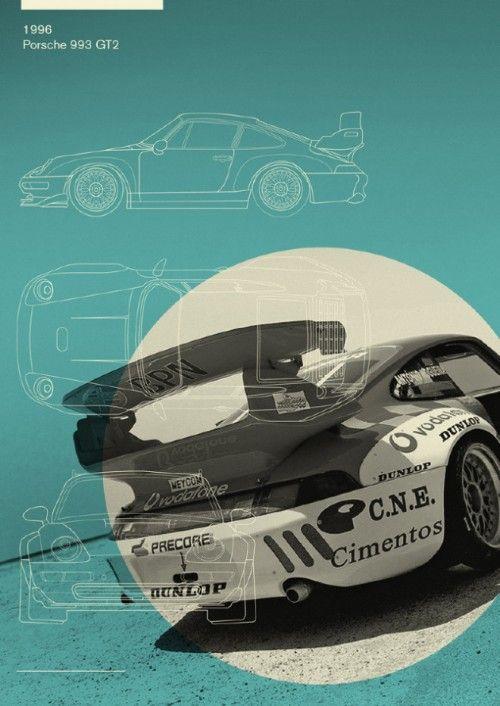 Porsche 993 GT2 Automotive Artwork Pinterest Fast times, Car