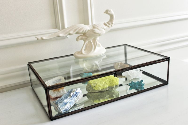 My jewel collection crate and barrel coffee table decor