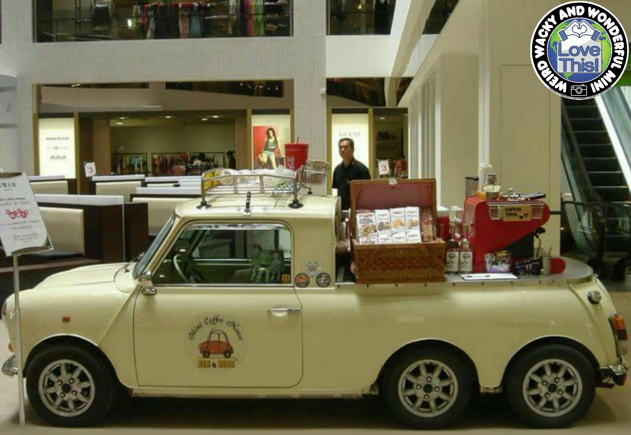 Mornin Miniacs Really really could do with this wicked 6 wheeled Mini Coffee Bar paying a visit to WWWMini Towers this morning... need strong coffee... very strong coffee... Have a great day folks