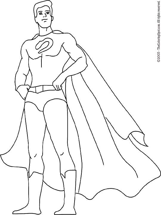 boy superhero coloring pages - photo#42