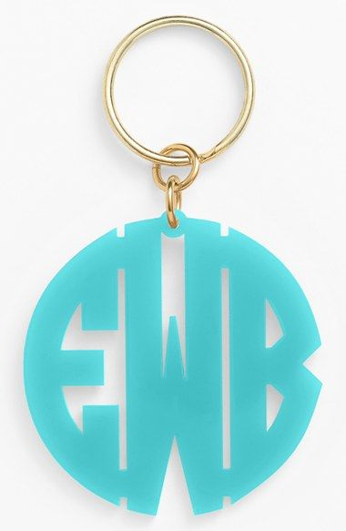 Women s Moon and Lola Personalized Monogram Key Chain - Blue ... 7ffbe2654b