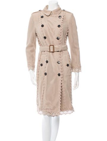Burberry Crocheted Trench Coat Trench Coat Coat Fashion