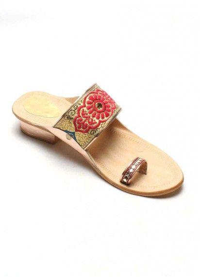 bd426880fd85e4 Authentic Kolhapuri Chappal Ladies Fancy Less Heal | Authentic ...