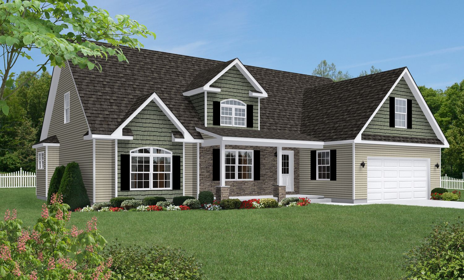 Shown With Optional Reverse Gable Dormer With Cornice Returns