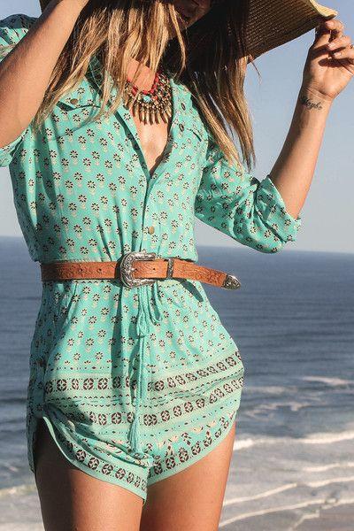Gypsiana Jumpsuit - Turquoise