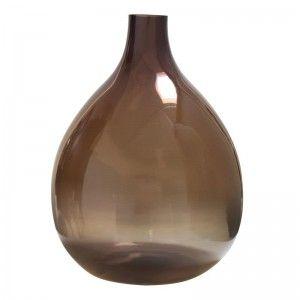 hk-living-vloervaas-fles-vaas-bruin-wolken-glas-gla3005
