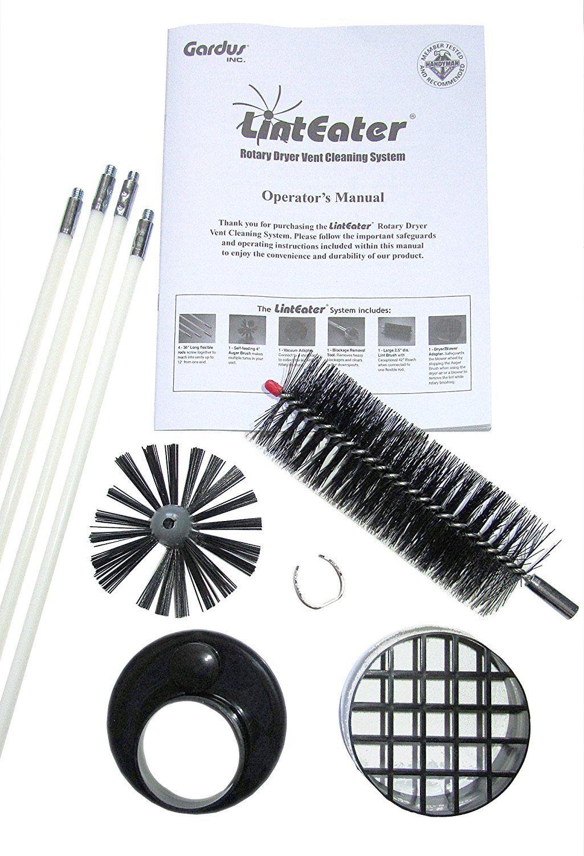 Gardus Rle202 Linteater 10 Piece Rotary Dryer Vent Cleaning System Clean Dryer Vent Vent Cleaning Dryer Vent