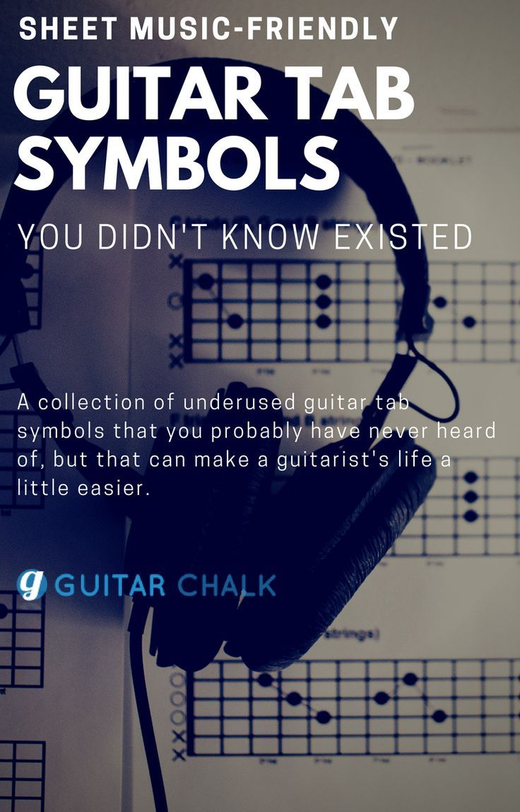 Guitar tab symbols that are unfamiliar and underused