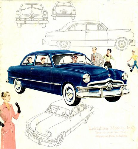 1950 Ford Custom 2 Door Sedan Car Ads Sedan Ford