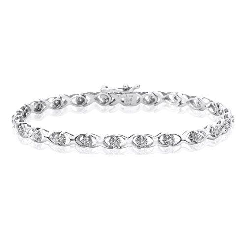 10k White Gold 14 25 Ct Kl Diamond Tennis Bracelet Details Can Be Found By Clicking On The Image Fro Silver Diamond Bracelet Tennis Bracelet Diamond Diamond