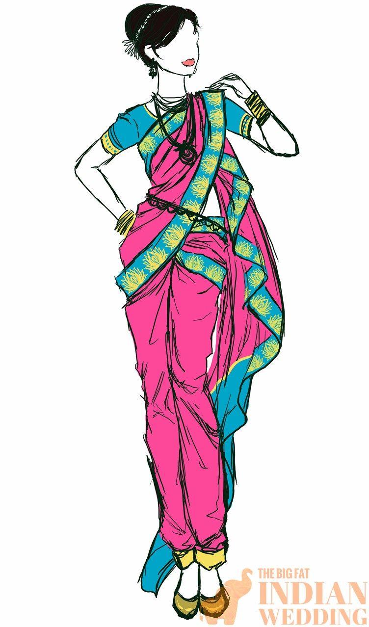 The Ultimate South Asian Style Guide Nauvari Sarees Fashion Illustration Sketches Nauvari Saree Sports Wear Fashion Illustration