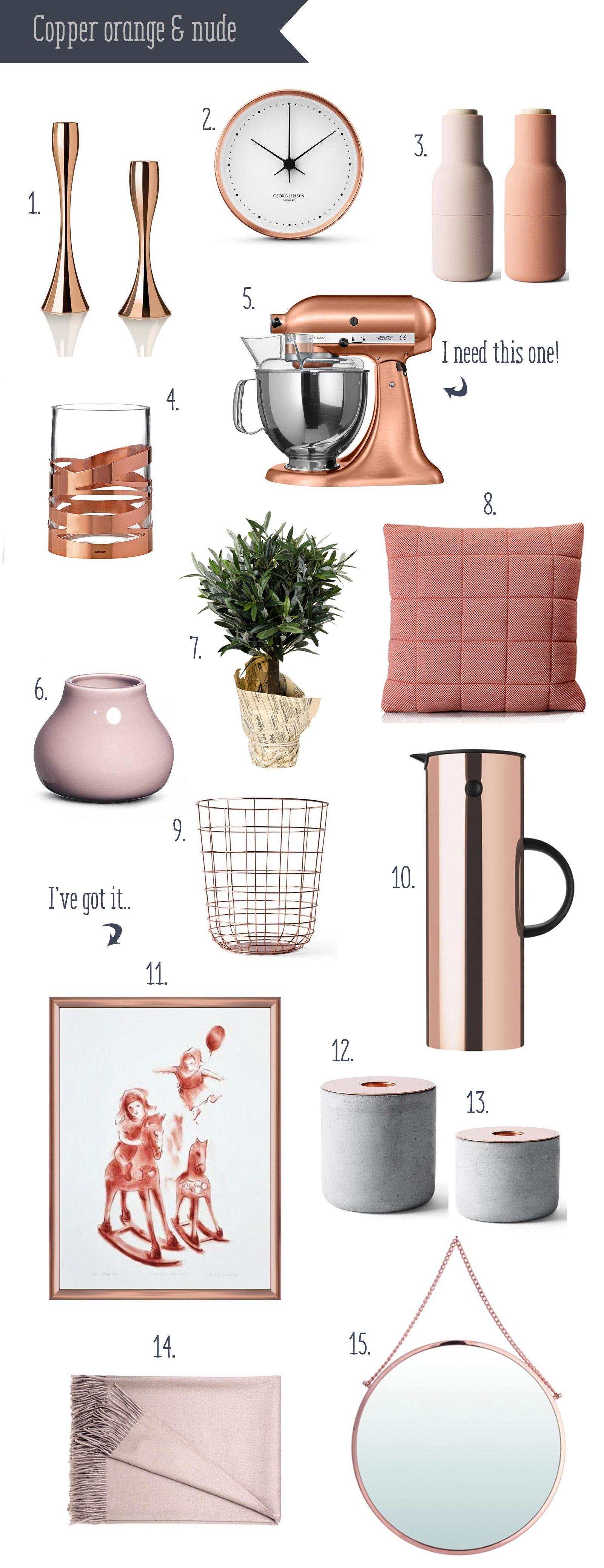 Spring trend 2015: copper orange and nude: interior wanties