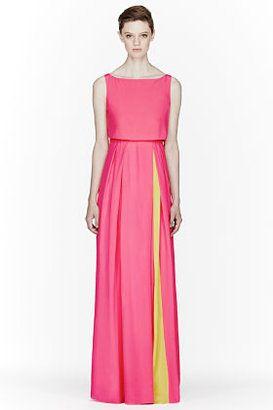 769ff0c1d96 ROKSANDA ILINCIC Bright Pink   Yellow Silk Ariane Maxi Dress at ShopStyle