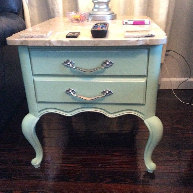 U201cAFTER: Painted With Martha Stewart Chalk Paint Color Antique Sky.  Highligted The Grooves