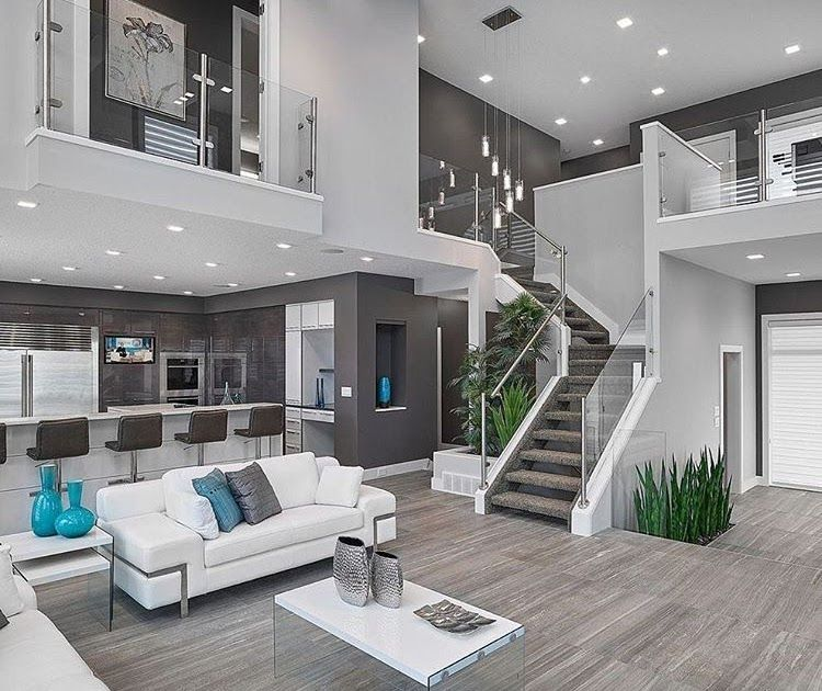 "9 Likes, 2 Comments - RR Styles (RR Styles) on Instagram: ""OPEN-FLOOR PLAN is the way to go! Open concept living room amp; kitchen with gray walls, hardwood…"" images"