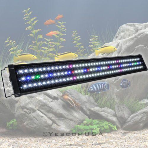 Led Aquarium Light Full Spectrum Freshwater Fish Tank Plant Marine 24 36 48 Fish Tank Lights Aquarium Lighting Led Aquarium Lighting