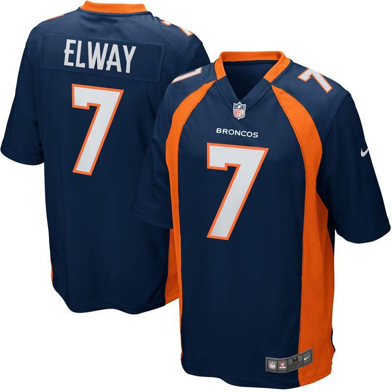 5b5856be5b7ef Denver Broncos Nike John Elway Retired Player Game Jersey – Navy ...