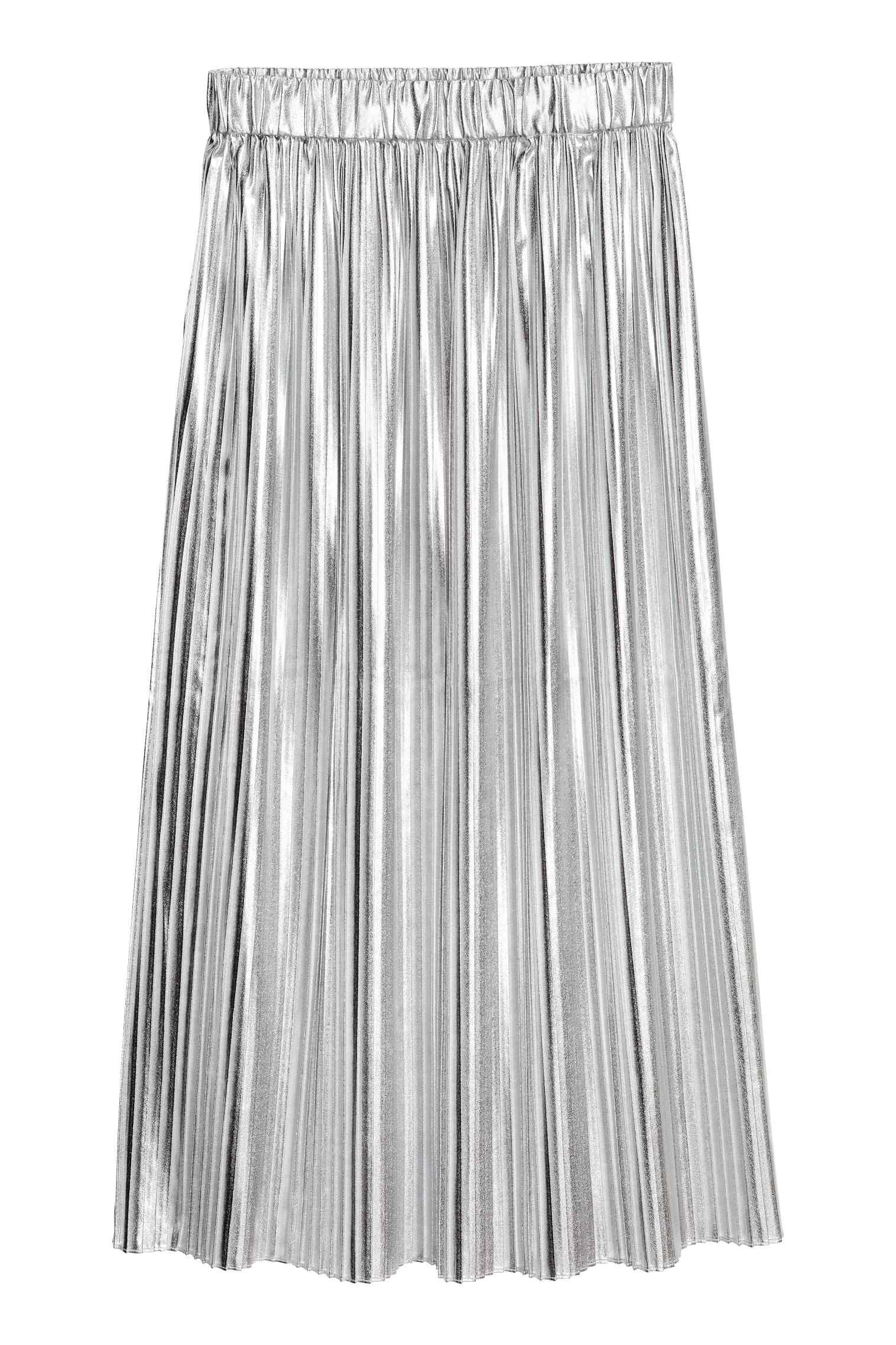 c46f4dcbe847d8 Jupe plissée | mode - my style ? my wishes ? | Silver skirt, Pleated ...