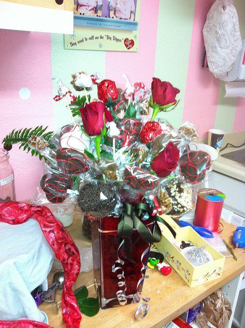 Valentines Bouquet/Cake Pops #cakepopbouquet