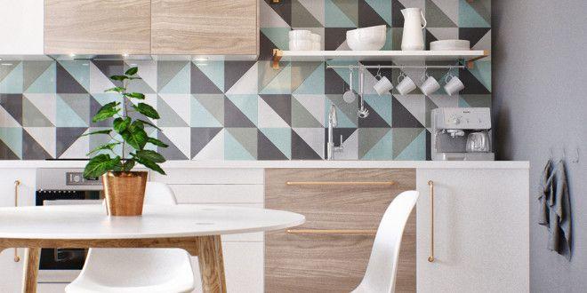 Kleine Wohnung modern und funktionell einrichten_moderne küche in - fliesen für küchenwand