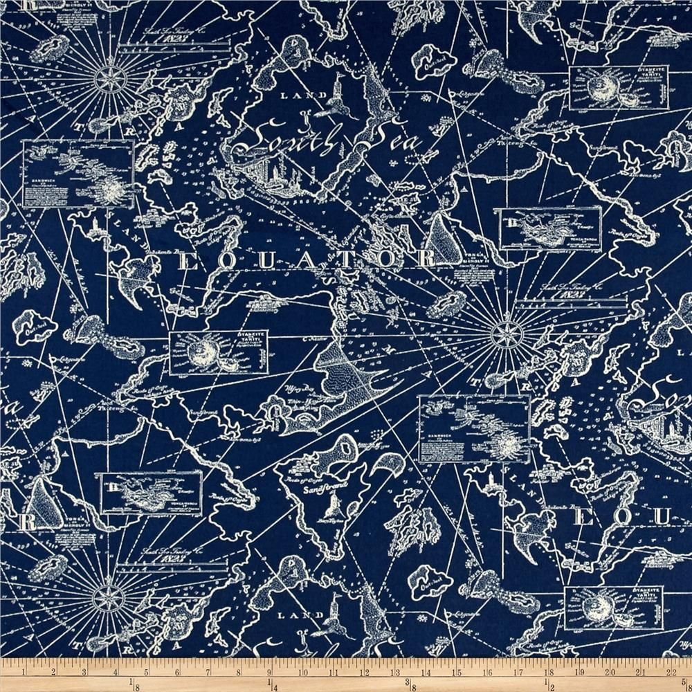 Discount outdoor fabric by the yard - Tommy Bahama Indoor Outdoor South Seas Nautical Fabric By The Yard