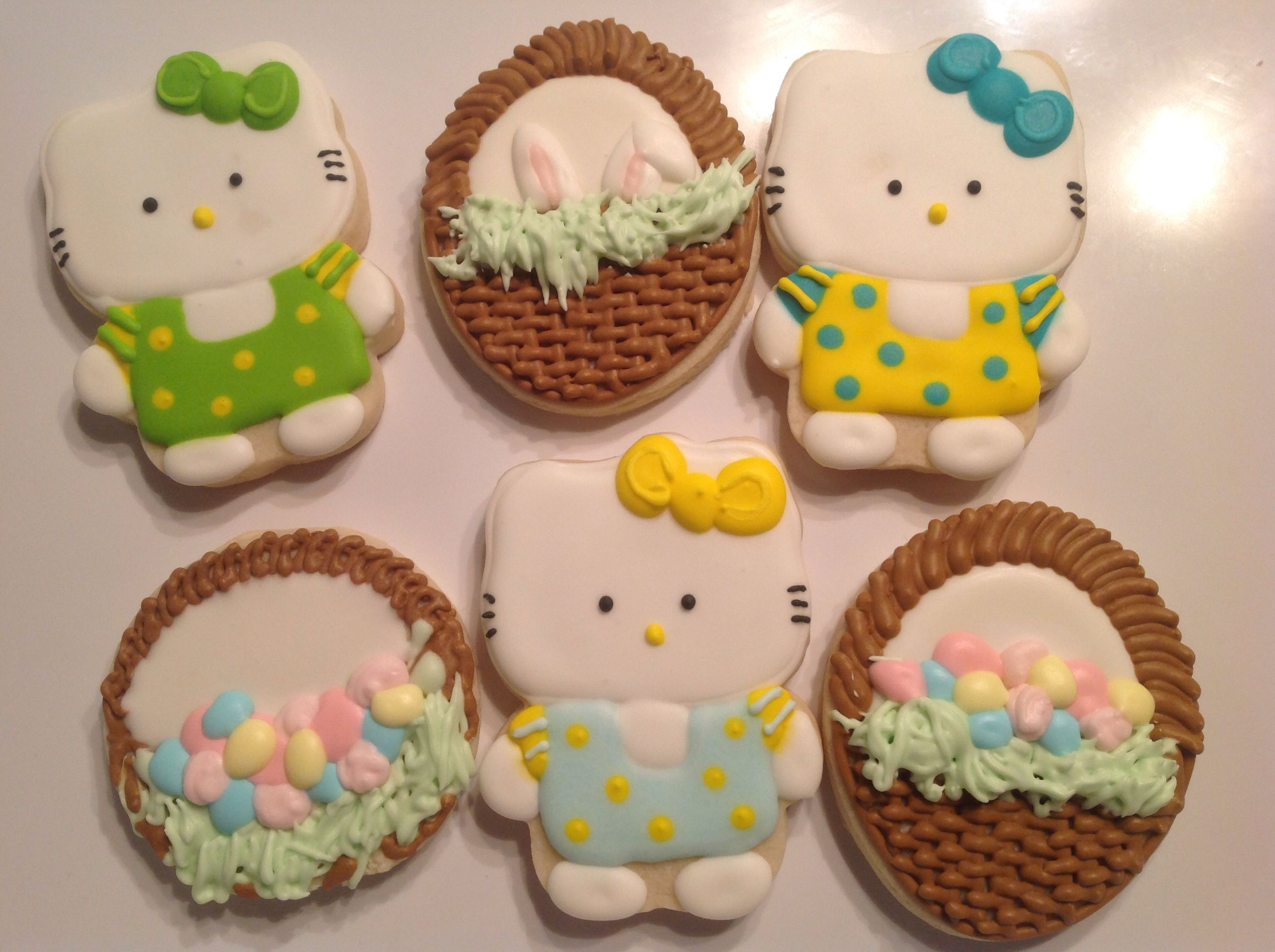 Hello Kitty and Easter Baskets - Decorated Sugar Cookies ...