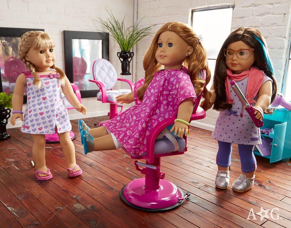 Doll Salon Chair Wrap Set Truly Me American Girl Doll Sets American Girl Doll Hairstyles American Girl Doll House