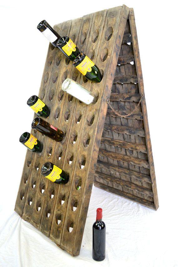 Vintage French Wine Bottle Riddling Racks By Winecountrycraftsman