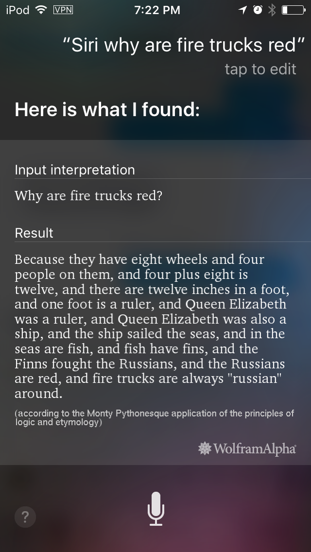 ask siri   u0026quot why are fire trucks red  u0026quot  this is the answer