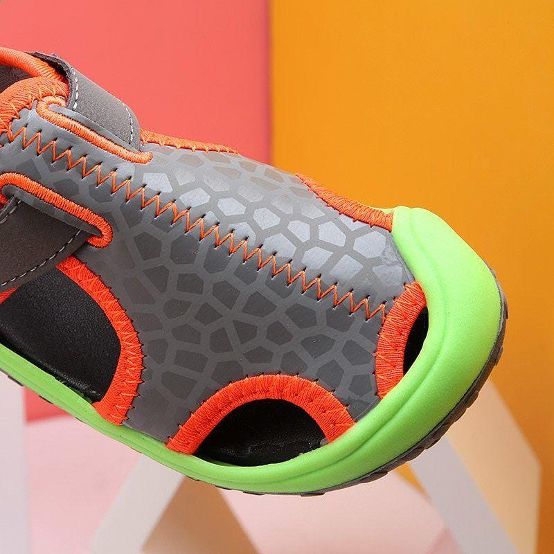 Letnie Dzieciece Sandaly Dla Chlopcow Nowosci Skorzane Sandaly Dla Dzieci Chlopcy Miekkie Dol Zamkniete Letnie B Hoka Running Shoes Running Shoes Sneakers Nike
