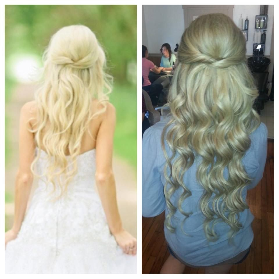 bridal hair. long hair. extensions. blonde. @christina snyder