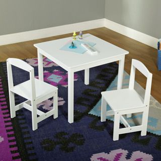 Simple Living White 3-piece Hayden Kids Table/Chair Set & Simple Living White 3-piece Hayden Kids Table/Chair Set | Toddler ...