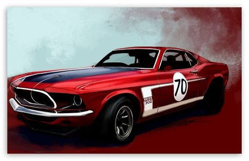 Ford Mustang Boss 302 Classic Car HD Desktop Wallpaper