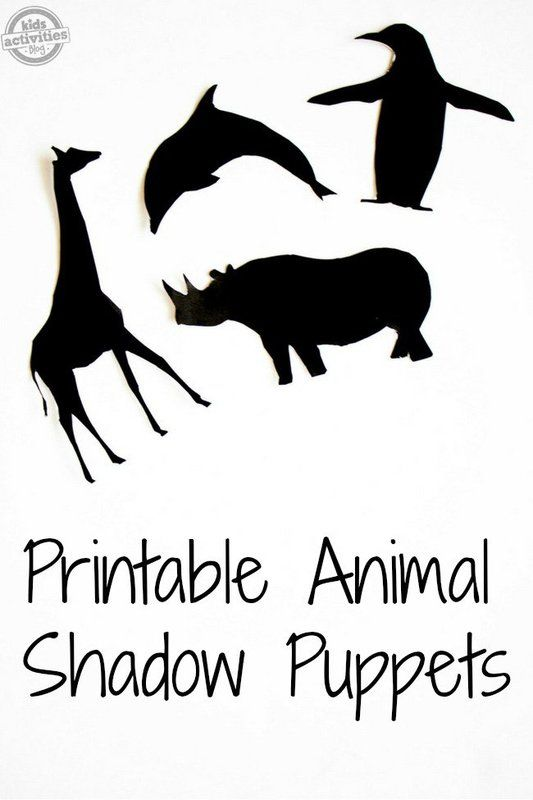 Shadow Puppets: Printable Animal Shadow Puppets Activity