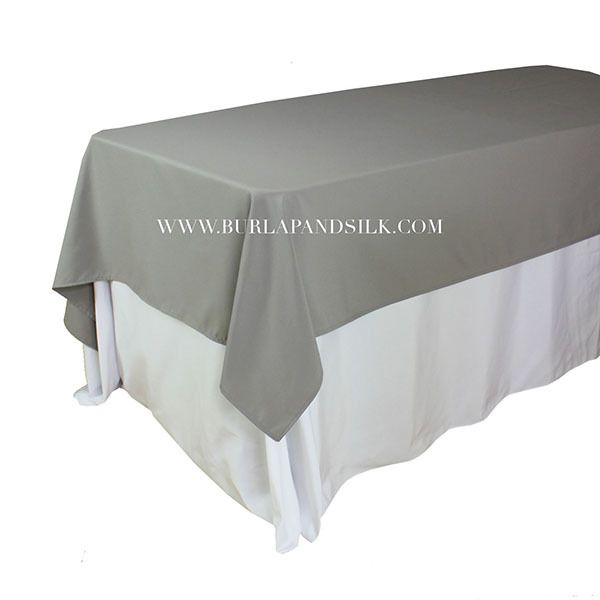 60 X 102 Inches Rectangular Gray Tablecloth Grey Tablecloths