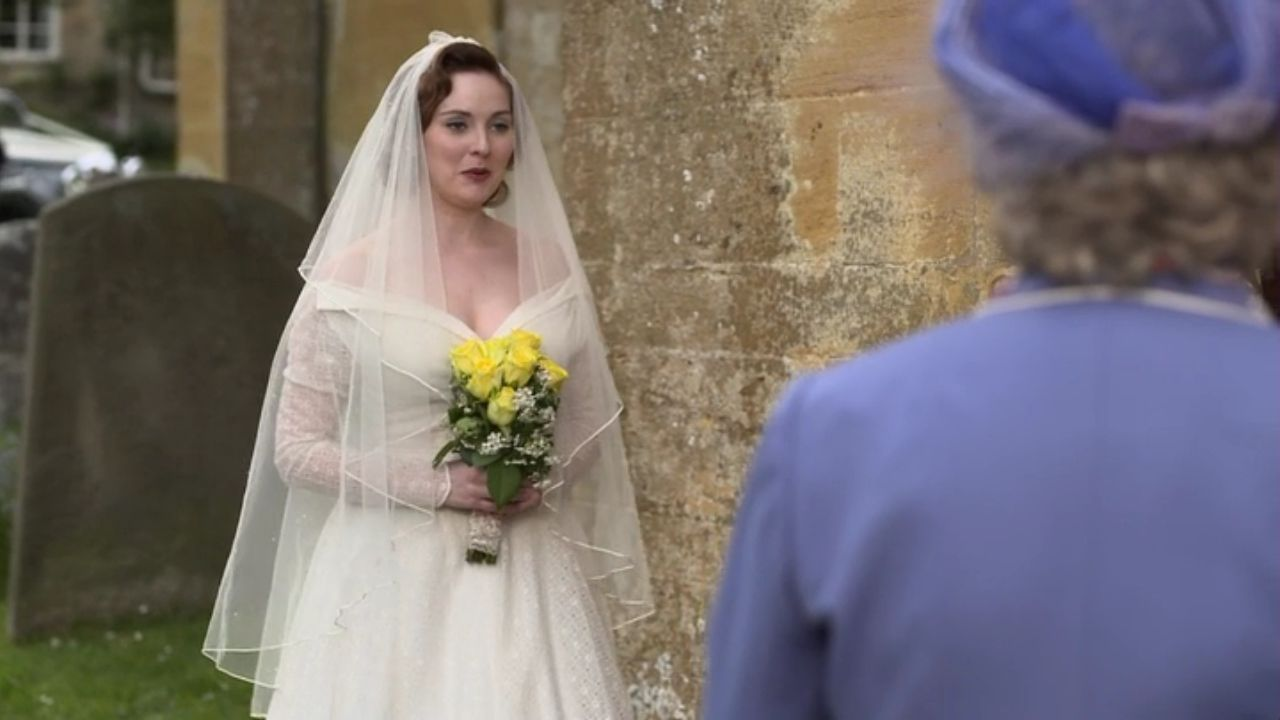 wedding dress from Father Brown (Season 3, Episode 3)