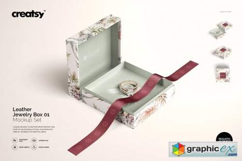 Download Jewelry Box Mockup Set 01 Free Download Vector Stock Image Photoshop Icon