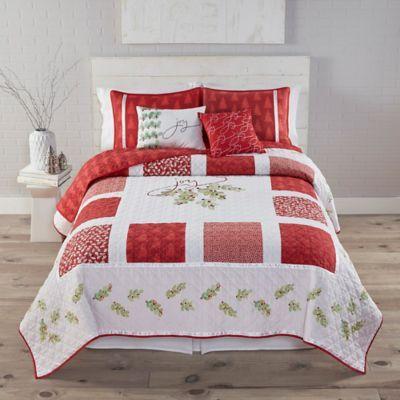 Buy Kathy Davis Framed Joy Reversible Twin Quilt Set from Bed Bath ...
