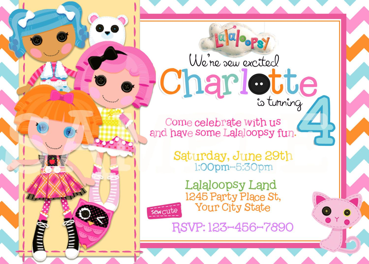 Lalaloopsy Birthday Invitation/ Printable by Thequiltedmonster ...