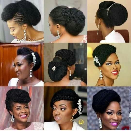 Pin By Darlene Goodrum On Hair Styles For Black Women Also Braids For Black Women Natural Hair Wedding Natural Hair Bride Natural Wedding Hairstyles